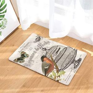 Винтаж бабочка клетка для птиц для дома и улицы Коврик для прихожей коврик скребок для обуви дверной коврик для входной двери, гараж, патио, высокие