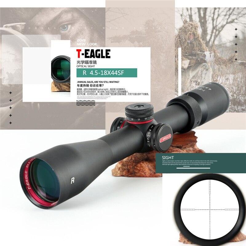 Mira telescópica T-EAGLE de caza de 4,5x18x44 SF, mira óptica táctica de tamaño completo, imak de alambre no térmico de Mil puntos, óptica de caza de retícula Nuevo medidor de potencia óptica de batería recargable de alta precisión G7, pantalla LCD a Color, medidor de potencia de fibra óptica con luz de flash OPM
