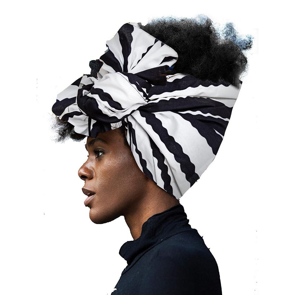 Shenbolen African Headwraps In Women Hair Accessories African Material Wax Traditional Headtie Headscarf Turban 100% Cotton