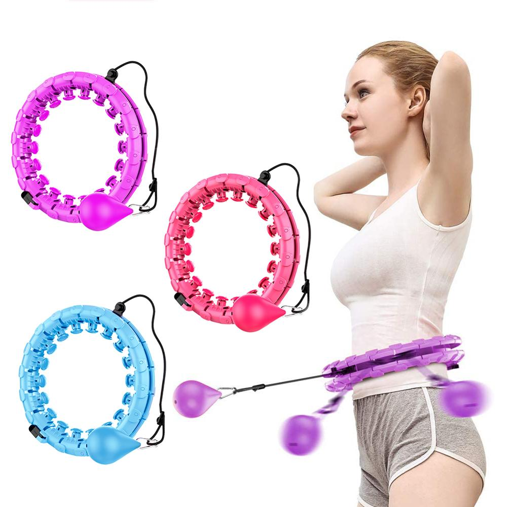 Intelligent Counting Fitness Sport Hoop Not Fall Adjustable Sport Hoops Adult Gymnastic Hoop Thin Waist Gym Fitness Circle Sport