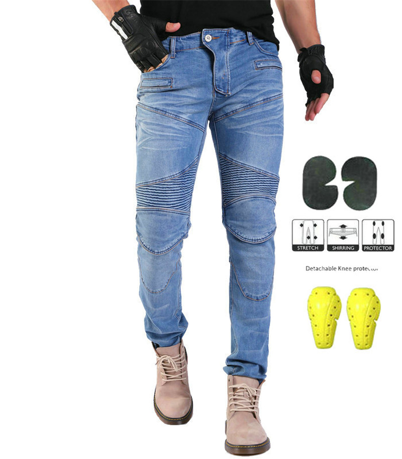 PK718 Motorcycle Kominie Anti-fall Jeans Knight Riding Denim Racing Pants Distribution Protection