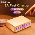 IHaitun 40 Вт 6 портов USB зарядное устройство QC 3 0 светодиодный демонстрационная подставка станция мульти Быстрый QC3.0 адаптер питания для путешес...