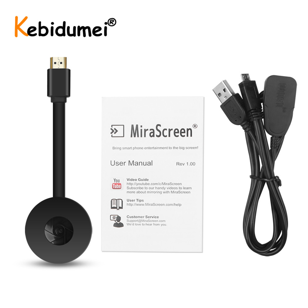MiraScreen TV Stick Dongle HDMI Wireless WiFi Display Receiver for Miracast G2 Phone IOS Android TV Projector