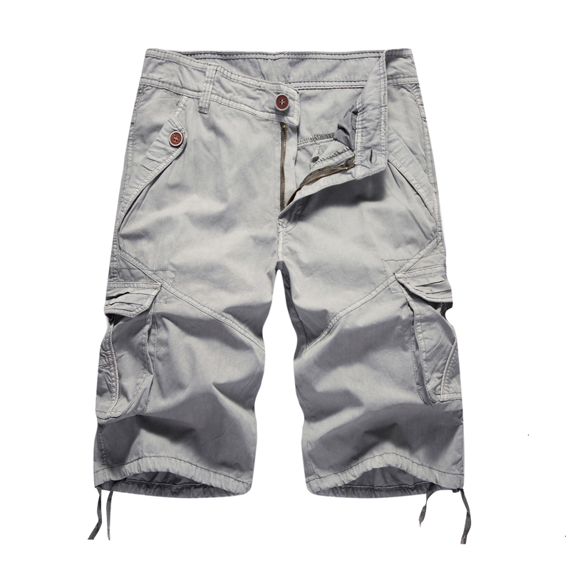 Cargo Shorts Men 2019 Summer Solid Army Military Shorts Homme 100% Cotton Soft Fashion Brand Clothing 30-40 Drop Shipping
