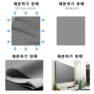 Image 4 - UBeamer 16:9 Anti light Reflective Fabric Screen Optional (60/100 Inches) for Home Theater Support DLP Project for Video Movie