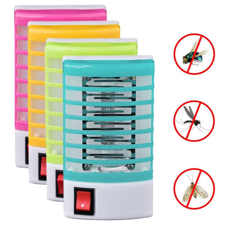 220V Uni Eropa Plug Mini Malam LED Nyamuk Pembunuh Lampu Serangga Terbang Serangga Perangkap Penangkap Rumah Praktis LED Listrik Nyamuk repellent