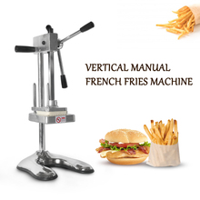 GZZT Vertical Manual French Fries Maker Potato Chip Cutter Machine With 3 Blades Vegetable Fruit Cutting machine Kitchen Tools