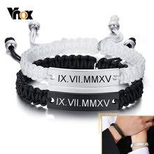 Couple Bracelets Vnox-Free Chain Jewelry Valentine's-Day-Gifts Custom Men Personalized