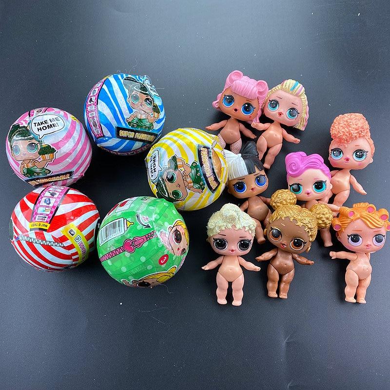 2 шт., новинка, большое блестящее платье без упаковки, оригинальные куклы LOL, игрушка-сюрприз, развивающая Новинка для детей, подарок на день рождения и Рождество