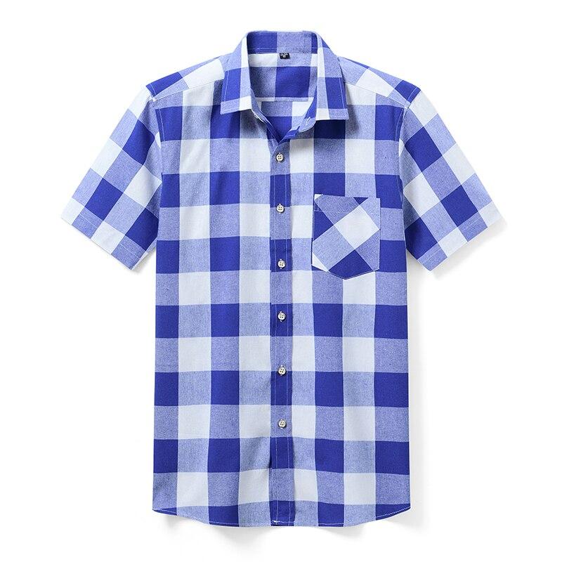 Aoliwen Brand 2020 Summer Fashion Men's Print Plaid Shirt Men's Short Sleeve Lapel Shirt Brand Casual Shirt Men's Classic Shirt