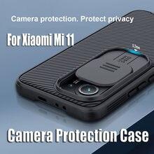 NILLKIN-funda protectora para Xiaomi Mi 11, cubierta deslizante para lente de cámara, para Xiaomi Mi 11