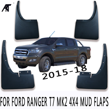 Mud Flaps For FORD RANGER T7 MK2 4X4 Mud Flaps 2015-2018 Splash Guards Mud Guards Fender with Screws Mudguard