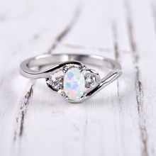 Для женщин 925 Серебряное кольцо с опалом подарок на свадьбу