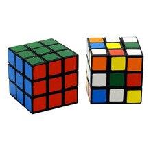 Стиль 3 см интеллекта детей Стразы «Кубик Рубика» три Слои игрушка 3-заказ Magic Cube гладкая начинающих Скорость твист-игрушка-вкладыш Educ