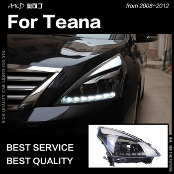 AKD Car Styling for Nissan Teana Headlights 2008-2012 Altima LED Headlight DRL Hid Option Head Lamp Angel Eye Beam Accessories