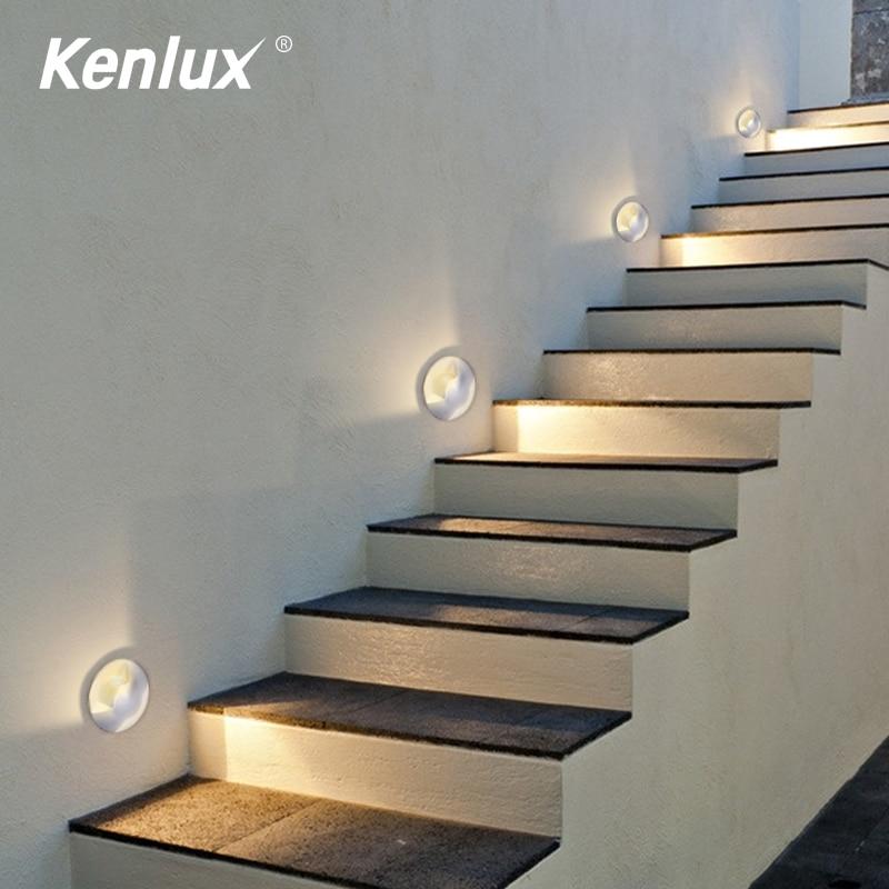 Kenlux Mini Led Light Stair Underground 2W D52mm Led Stair Light COB Outdoor Buried Garden Path Spot Recessed Inground Lighting