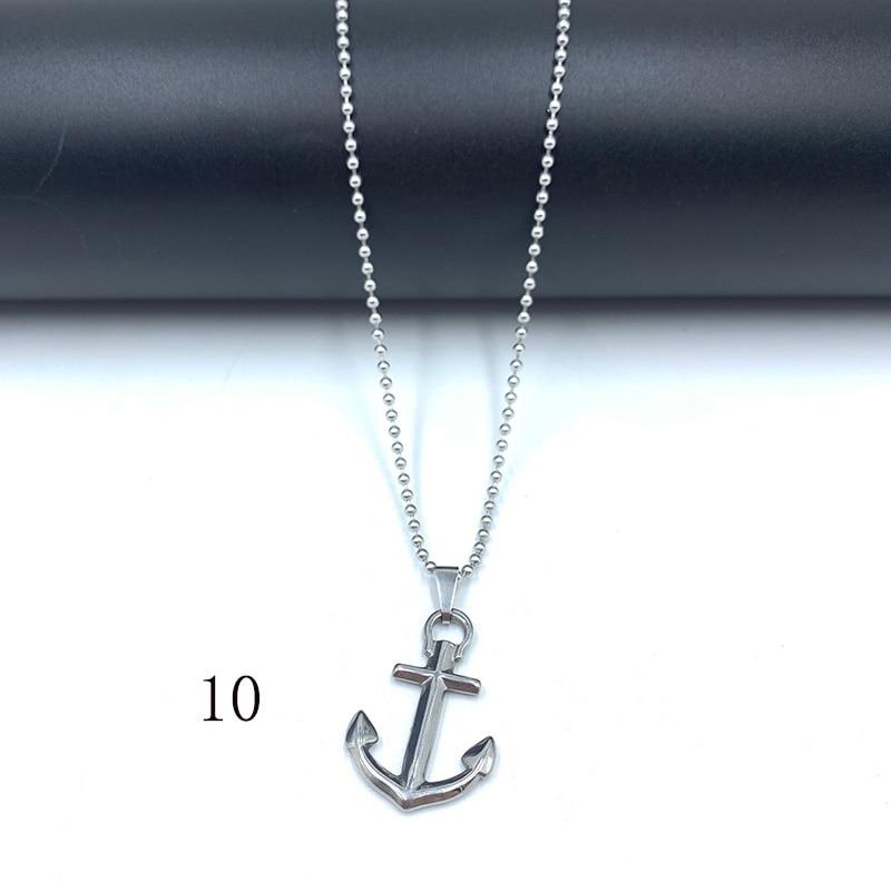 Купить цепочка с бусинами и кулоном из нержавеющей стали ожерелье звеньев