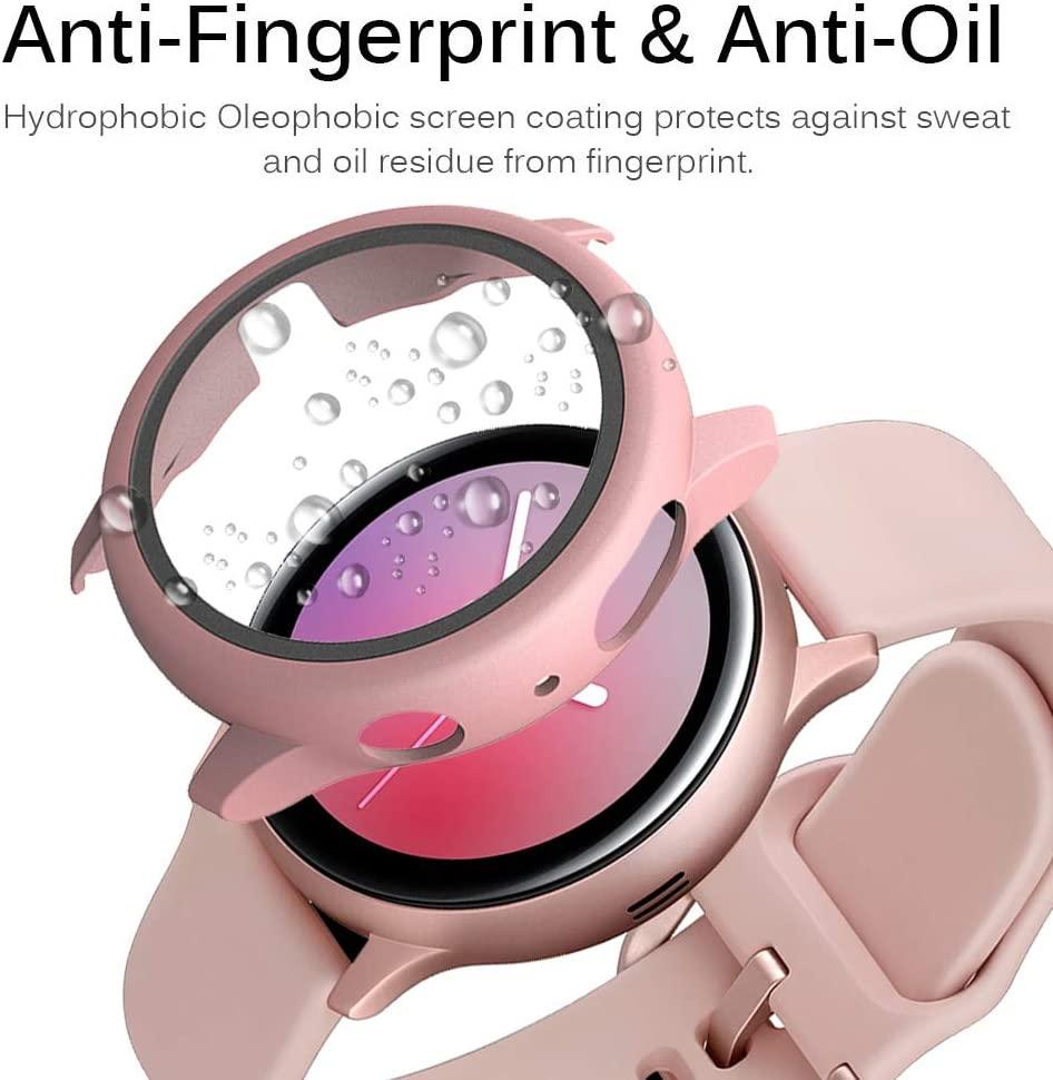 Стекло и чехол для Samsung Galaxy watch active 2 44 мм 40 мм, чехол-бампер с защитой экрана для Galaxy watch active 2 44 мм 40 мм