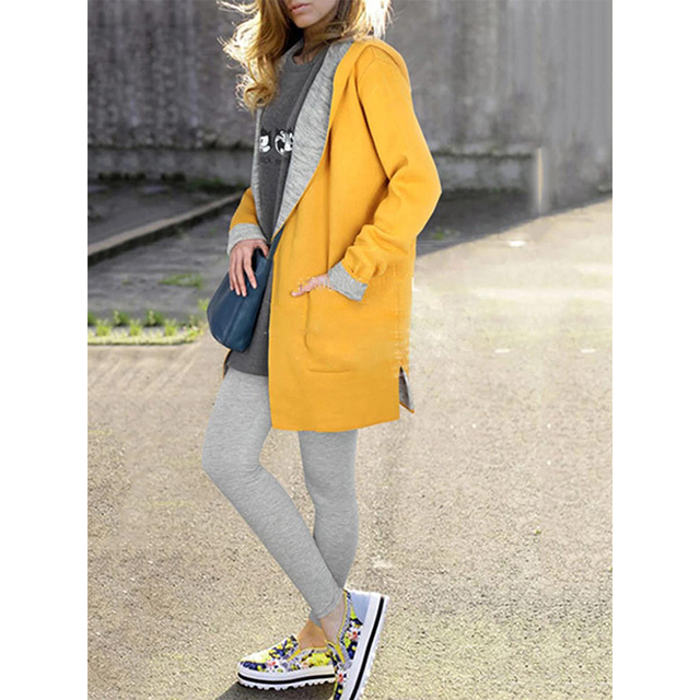 Oversized Elegant Outerwear Coats Women Autumn Winter Pink Yellow Hooded Coat Cloak Wool Alpaca Female Long Woolen Jacket Women