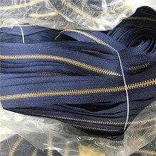 10 м/лот 3# длинная сплошная YKK металлическая молния цепь черный темно-синий с ползуном карман чемодан сумка Портной Швейные аксессуары
