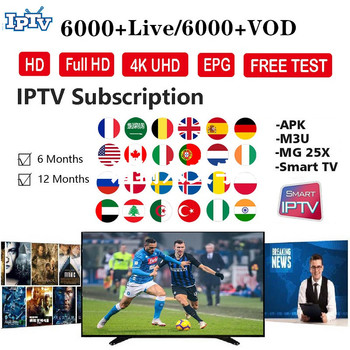 7000 Channels World Global IPTV Europe USA UK Germany Italy Nordic Latin Month subscription For M3U Enigma2 IOS Android Smart TV