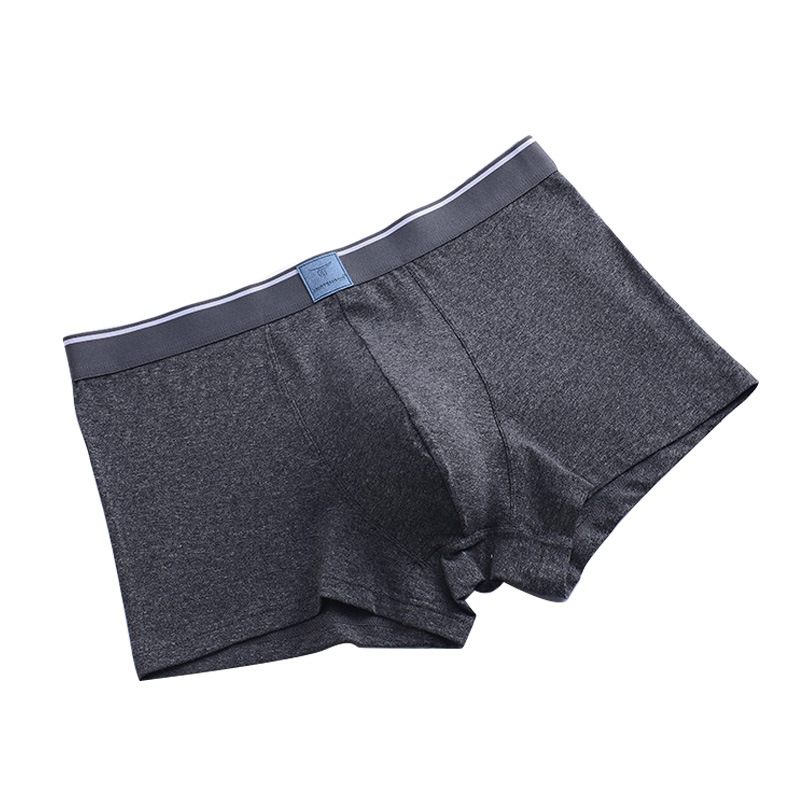 Men's Boxers Combed Cotton Gray Underwear Men's Sweat Absorbing Dark Cotton Men's Underwear