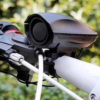 123dB rower elektryczny sprzęt do jazdy dzwonkiem elektryczny róg Super głośny sprzęt do jazdy elektryczny róg akcesoria rowerowe tanie i dobre opinie Elektryczne róg Electric horn reinforced plastic electronic components 4 6 * 3 8 * 9 4cm Bicycle electronic horn One-touch switch design specifications