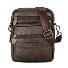 Mens Leather Small Messenger Bag Satchels Multifunctional Cr