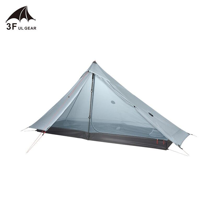 3F ULเกียร์อย่างเป็นทางการLanshan 1 Proเต็นท์กลางแจ้ง 1 คนUltralight Campingเต็นท์ 3 ฤดูProfessional 20D Silnylon Rodless