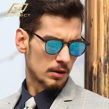 SIMPRECT TR90 Metal Polarized Sunglasses Men 2020 Square