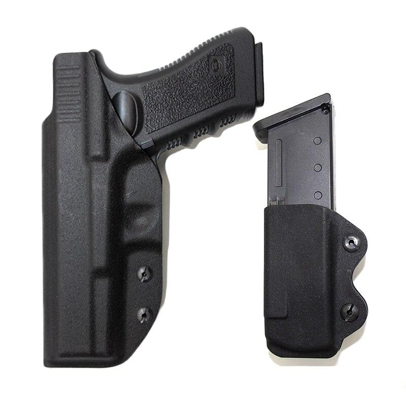 Pistolera táctica oculta IWB Kydex pistolera mano derecha Airsoft cinturón funda para Glock 17 22 31 43 43x funda interior para llevar pistola