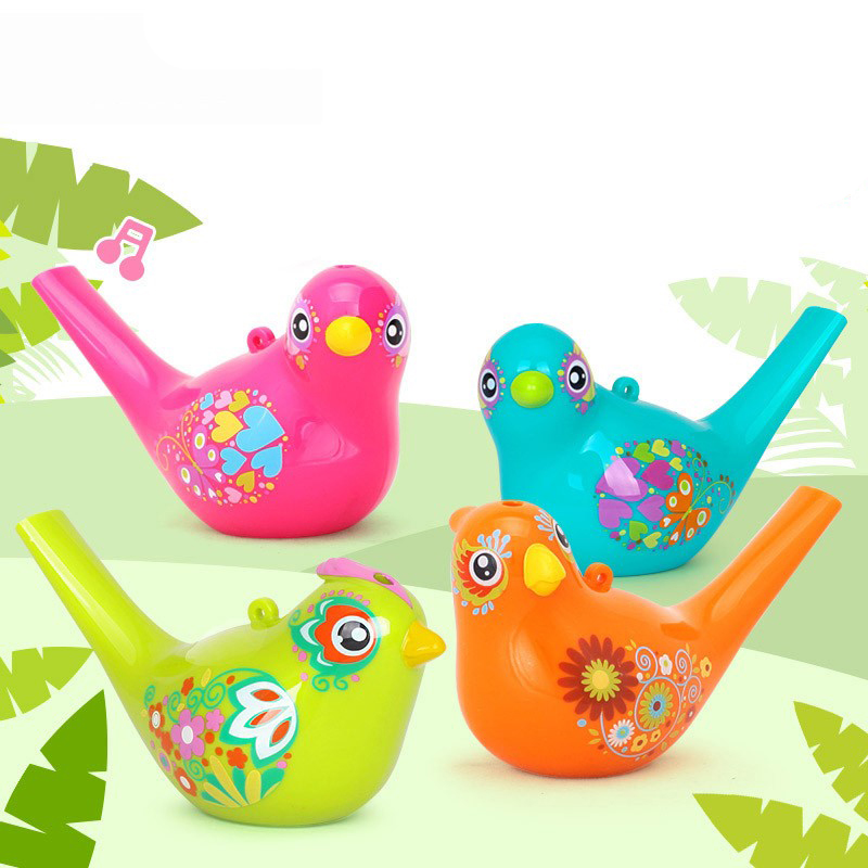 Coloured Drawing Toy Musical Instrument Water Bird Whistle Bathtime Musical Toy For Kid Early Learning Educational Children Gift