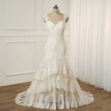 Jiayigong Plus Size Wedding Dress Cap Sleeves Sweep Train Wedding Vestidos Cerimonia Vestido De Noiva Bridal Gowns