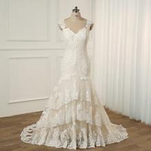 Jiayigong בתוספת גודל חתונה שמלה שווי שרוולים טאטא רכבת חתונת Vestidos Cerimonia Vestido דה Noiva כלה שמלות