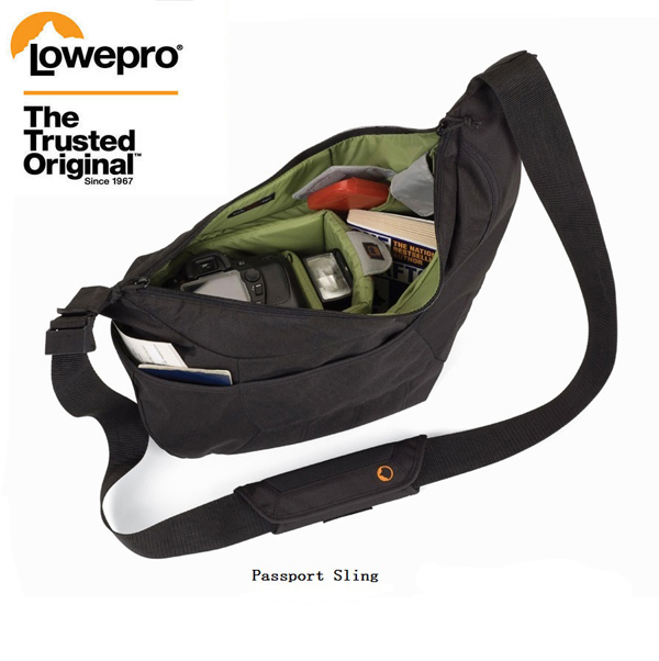 New Lowepro Passport Sling   Passport Sling II Camera Bag  a Protective Sling Bag for a Compact DSLR or CSC