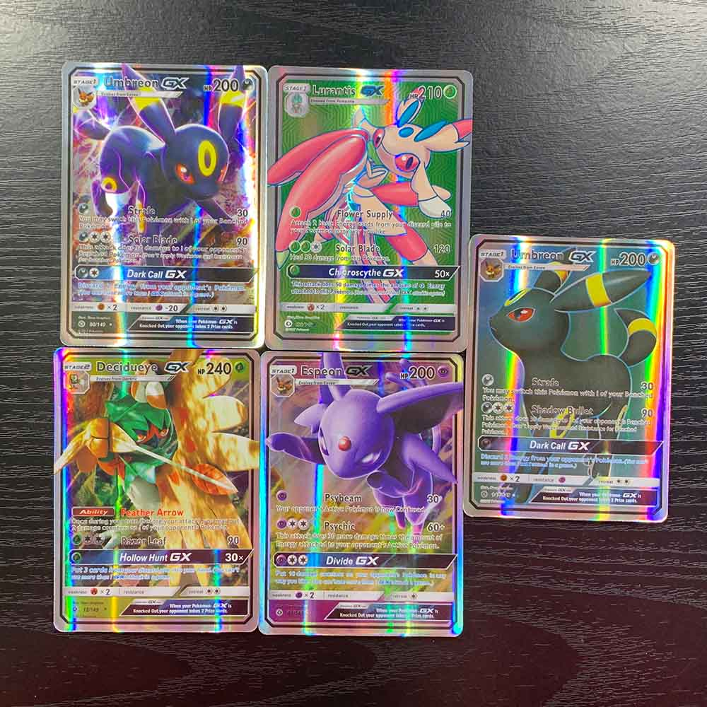 TAKARA TOMY 20 GX Energy MEGA Cards Collections Battle Shining Deck Board Table Game Children Toys Flash Pokemon Card