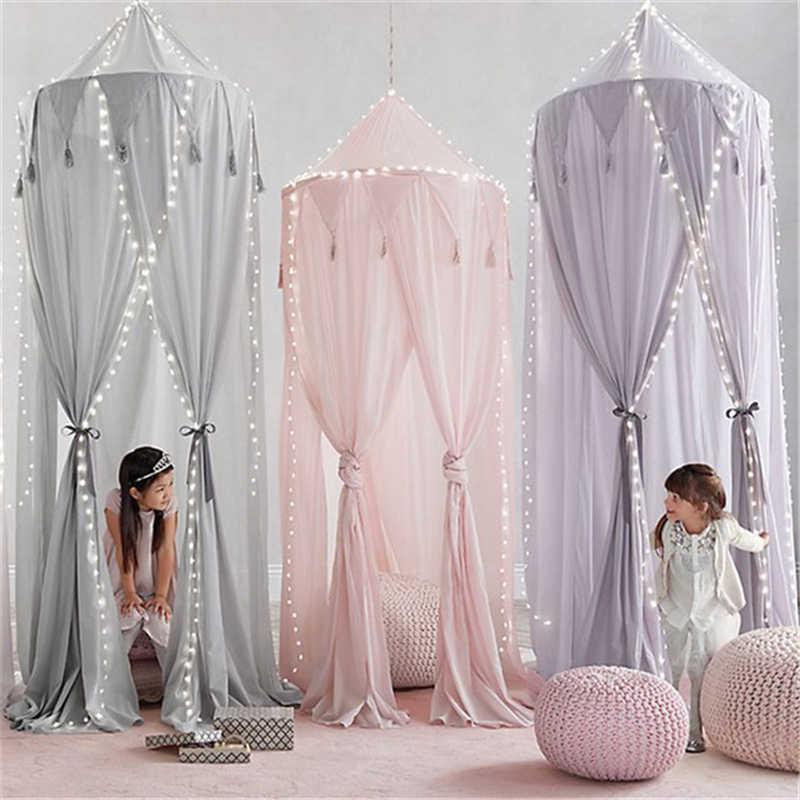 Crianças tenda de cama do bebê portátil tendas brinquedo recém-nascido berço compensação teepee decoração do quarto do bebê dossel cama cortina babykamer