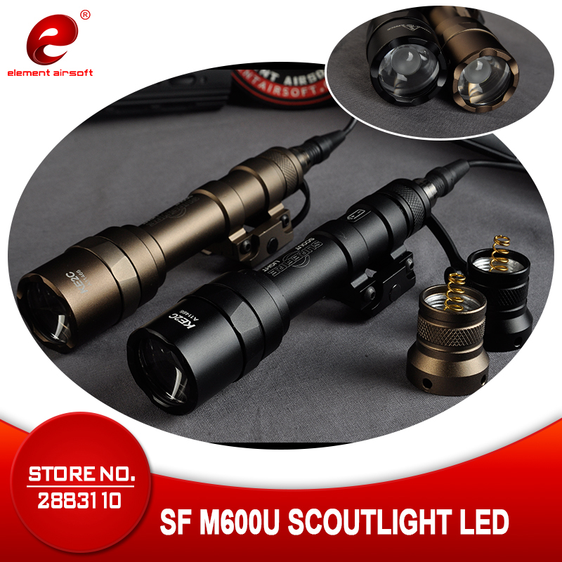 Element Airsoft SF M600U Weapon Scout Light LED 500 Lumens CREE LED XP G R5 Lights Hunting Gun Flashlight  Switch Black EX356-in Weapon Lights from Sports & Entertainment    1