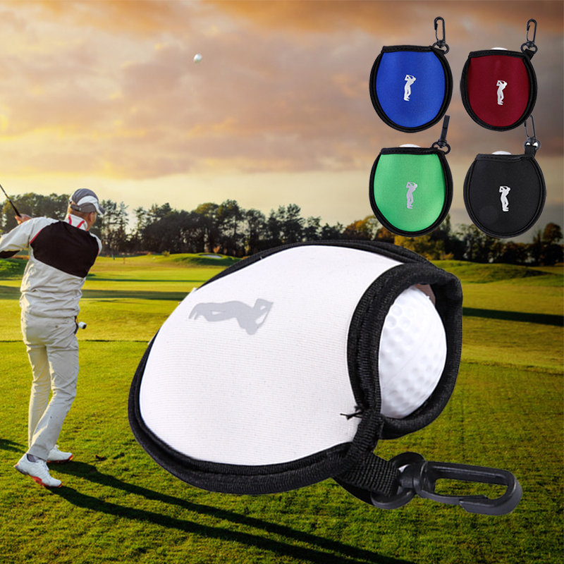 Golf Ball Bag Nylon Outdoor Protect Gift Travel Golf Ball Pocket Golf Cover Durable Case Waterproof Storage Sports Club