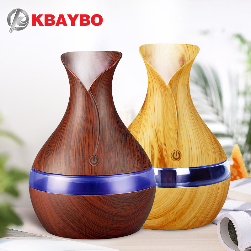 KBAYBO 300ml Mini USB Charging Air Humidifier Aroma Essential Oil Diffuser Mist Maker With LED Night Light