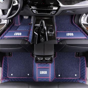Custom Leather Car Floor Mats Waterproof Pad for audi R8 S1 S3 S4 S5 S6 SQ5 SQ7 RS3 RS4 RS5 RS6 RS7 TT TTS car carpet styling