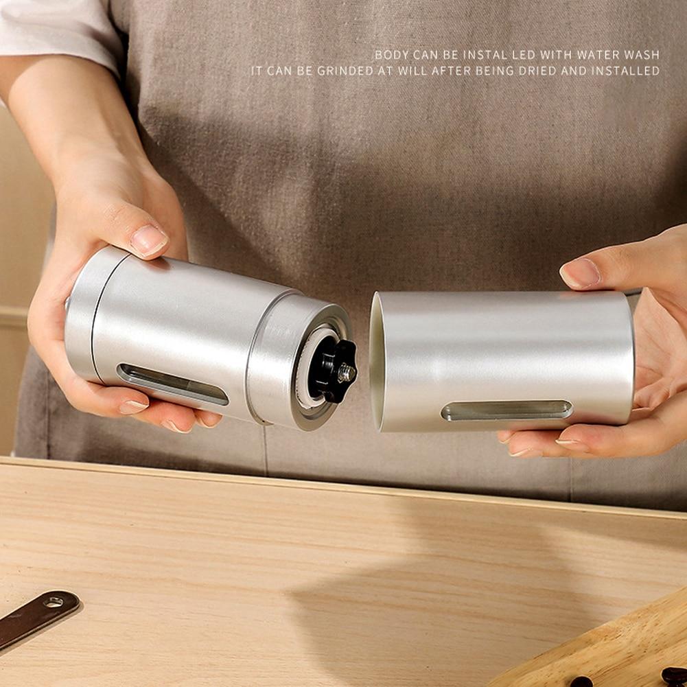 Ручная кофемолка из нержавеющей стали набор керамической мельницы