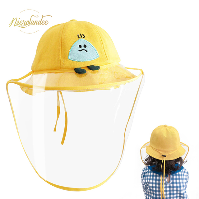 NICROLANDEE Fisherman Cap with Removable Shield Anti-Spitting Anti Saliva Fog Windproof Dustproof Hat Protection for Children