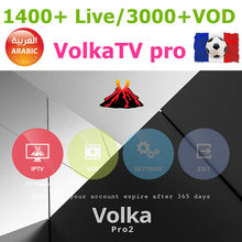 smart tv VOLKA pro Iptv subscription French arabic iptv code vod stalker xtream king magnum ott iptv code(China)