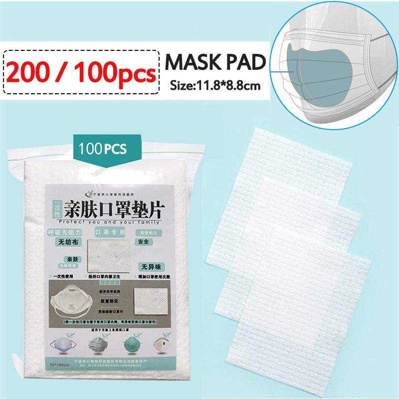 200pcs Disposable Facial Mask Filter Pad Haze Mask Universal Protective Replaceable Pad For KF94 N95 KN95 Ffp2 All Face Mask