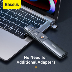 Image 3 - Baseus אלחוטי מגיש USB & USB C מצביע לייזר עם שלט רחוק אינפרא אדום מגיש עט עבור מקרן Powerpoint PPT שקופיות