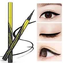 1 pçs final preto/marrom caneta delineador pequeno caneta de ouro de secagem rápida à prova dwaterproof água duradoura lápis de olho líquido cosmético tslm2