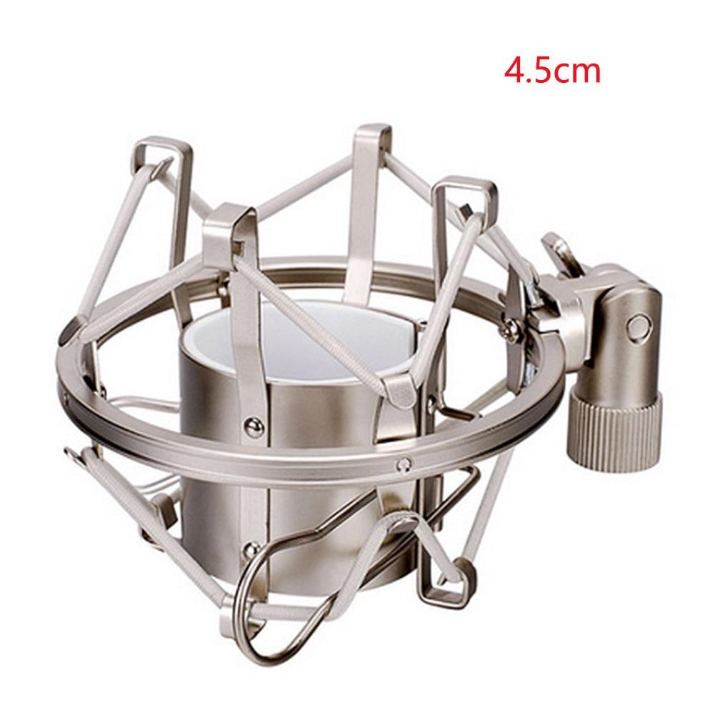 Professional Microphone Shock Mount Locking Knob Reduce Noise Broadcast Clip Studio Recording Mic Holder Spider Condenser