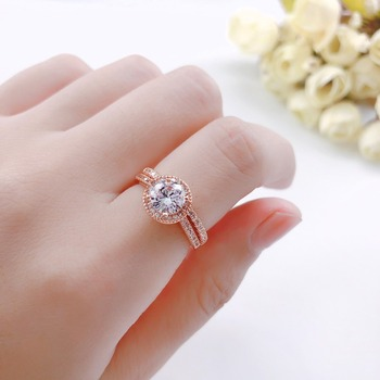 Luxury 925 Silver Ring for Women Engagement Wedding Rings AAA Zircon Diamond Bridal Band Rose Gold Gemstone Fine Jewelry Gift 4