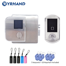 Cerradura electrónica a prueba de agua, lector de acceso de doble cara con tarjeta IC, cerradura para cerradura de puerta de Metal